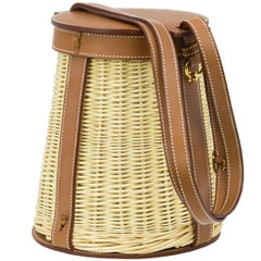 Hermes Barenia & Wicker Picnic Farming Bag