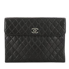 Chanel Flap Portfolio Clutch Quilted Calfskin Large