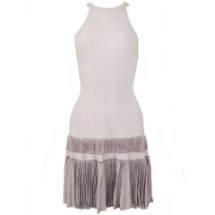 Alaia Lilac/Gray Sleeveless Dress - Size FR 40