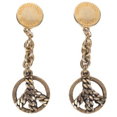 Moschino 1990s Oversized Statement Clip On Earrings