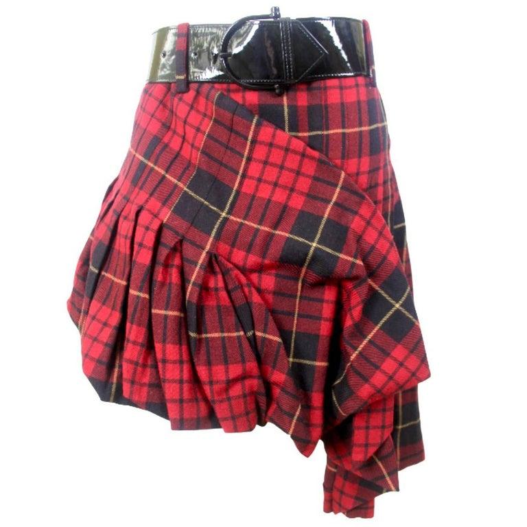 4adfdea8cb Alexander McQueen Widows of Culloden Tartan Skirt and Belt, 2006 For Sale