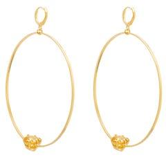 Puro Iosselliani Creole Hoop Gold Earrings