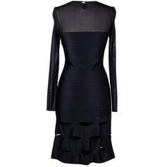 Christian Dior Dress Black Bandage and Mesh 40 / 8