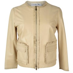 Christian Dior Jacket Butter Lambskin Leather fits 6