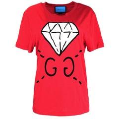 Gucci Unisex 2016 Red GG Ghost Diamond T-Shirt sz Men's S rt. $450