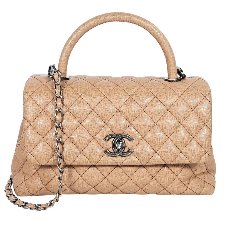 c2ff4ecc371312 ... Pearly Gray Duchess Satin. HomeFashionHandbags and PursesCrossbody Bags  and Messenger Bags. Tan Chanel Quilted Caviar Leather Satchel For Sale
