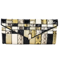 Multicolor Tamara Mellon Snakeskin Clutch