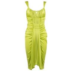 Emanuel Ungaro Bright Green Silk Jersey Dress - Size IT 40