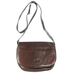 Brown Vintage Valentino Leather Crossbody Bag