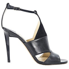 Black Jimmy Choo Suede & Leather Timbus Sandals