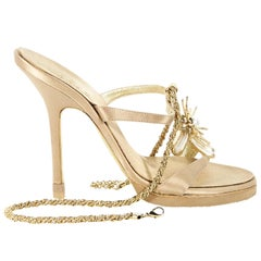 Metallic Gold Roberto Cavalli Embellished Sandals