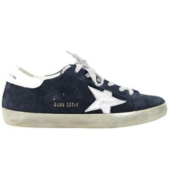 Navy Blue Golden Goose Deluxe Brand Superstar Sneakers