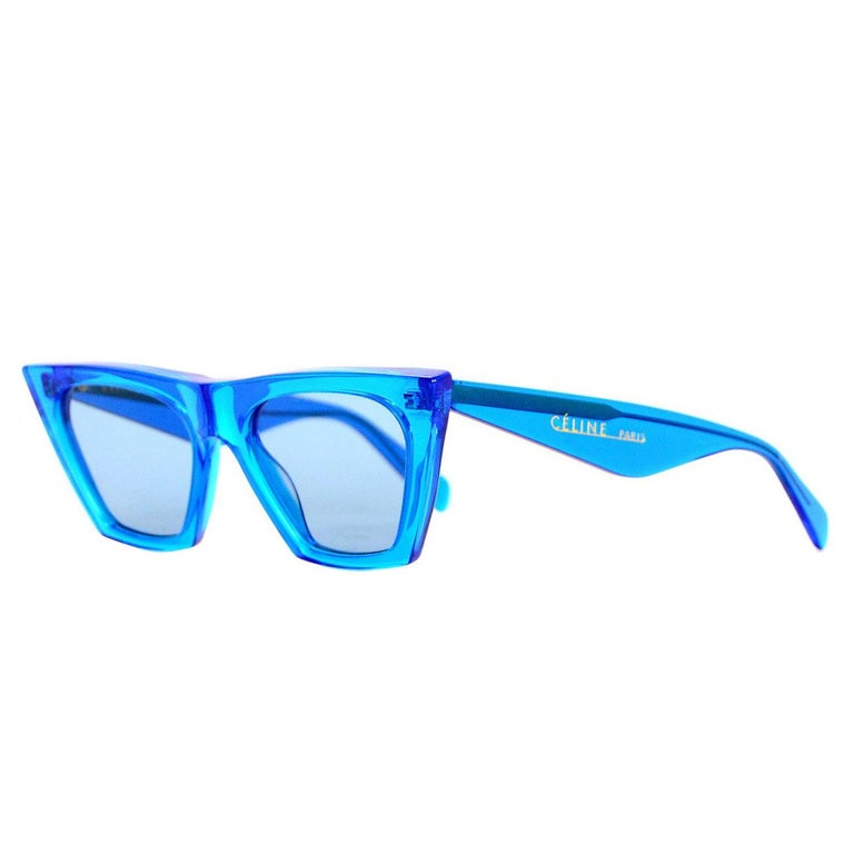 4270cacc1c4 Celine Transparent Blue Edge CL41468 S Sunglasses For Sale at 1stdibs