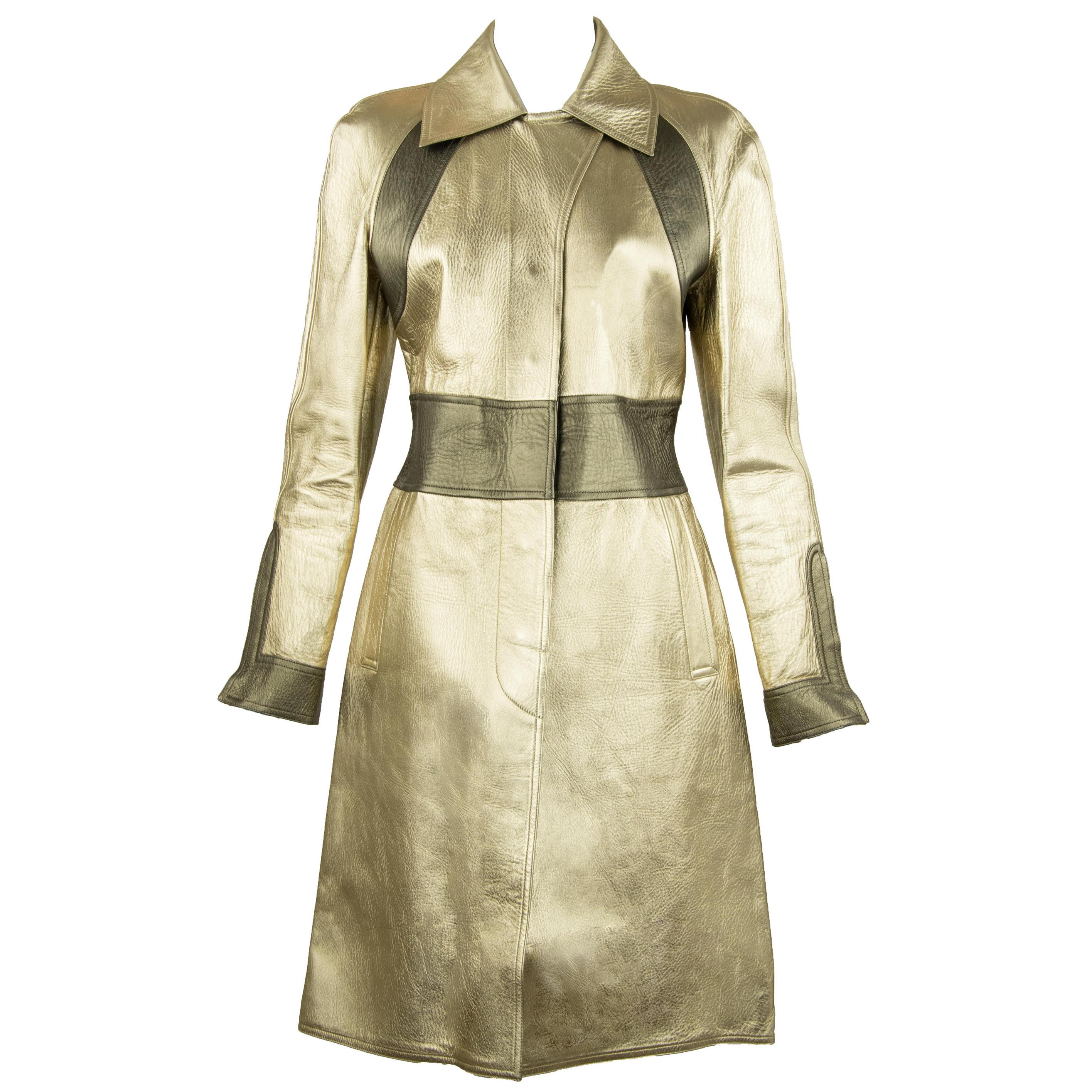 599c0adb1 Gucci by Tom Ford Gold Leather jacket For Sale at 1stdibs