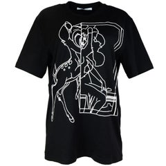 Givenchy 2017 Black & White Outline Bambi T-Shirt