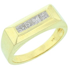 Rectangular Platform Diamond Ring
