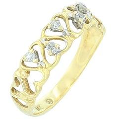 Yellow Gold Heart Shape Ring