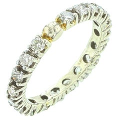 Round White Diamond Band, 14K White Gold