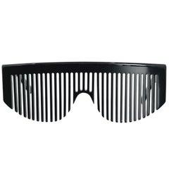 Chanel Black Comb Sunglasses, 1990s