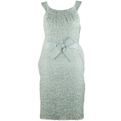 Christian Dior Silver Sequin Dress with Bows - Size FR 32