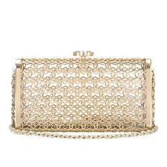 Chanel Metal Moucharabieh Minaudiere Bag