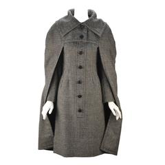 1950s Christian Dior New York Houndstooth Cape and Dress Set