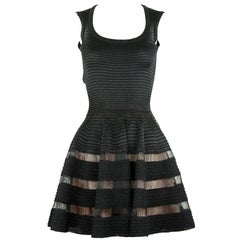 Alaia Sleeveless Black Fit and Flare Dress