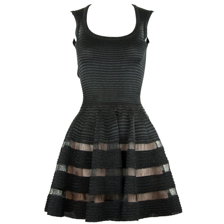 895c03f058d Alaia Sleeveless Black Fit and Flare Dress For Sale at 1stdibs