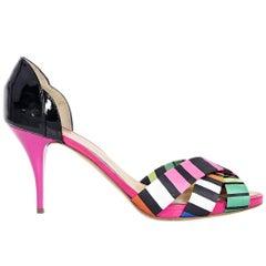 Multicolor Giuseppe Zanotti Satin & Patent Leather Sandals