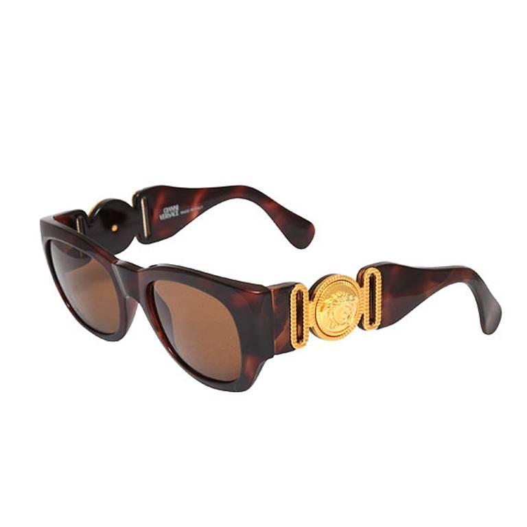 Versace Sunglasses For  gianni versace sunglasses mod 413 a col brown for at 1stdibs