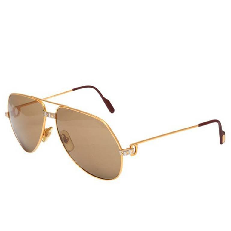Large Vintage Sunglasses Vendome Santos Cartier qUMLzpGVS