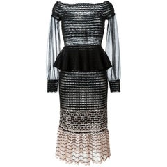 Alexander McQueen Off-The-Shoulder Knit Dress