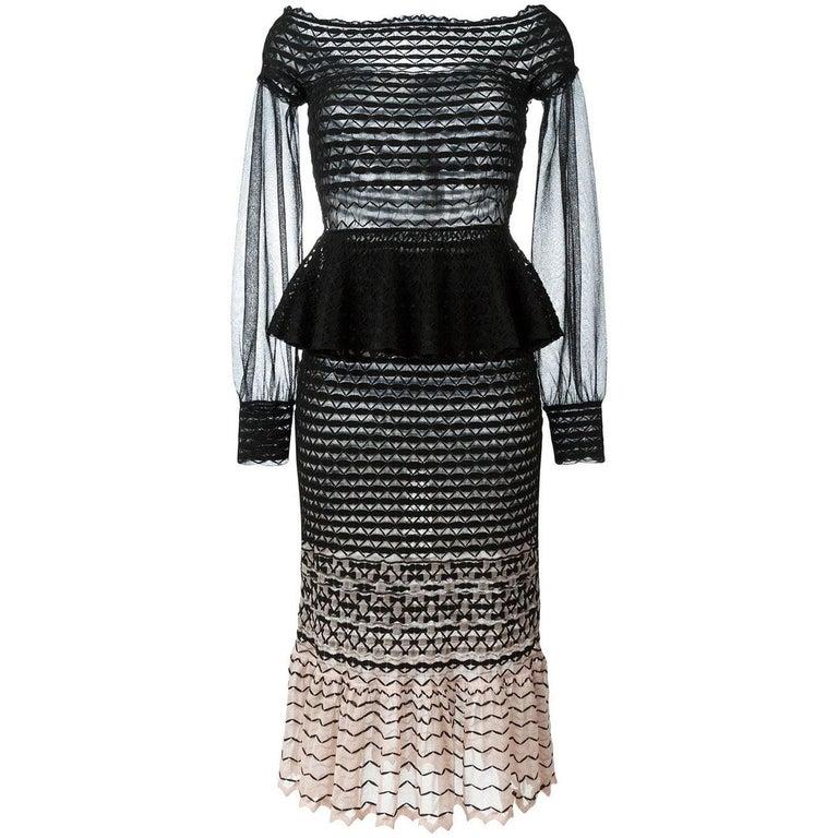 0c6d932acb9 Alexander McQueen Off-The-Shoulder Knit Dress For Sale at 1stdibs