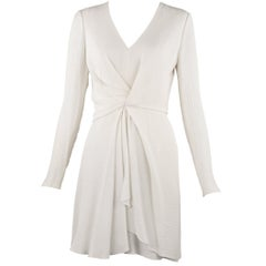 J. Mendel Off White Silk Twist Dress