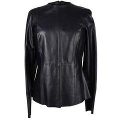Celine Top Lambskin Leather Feather Weight Dark Indigo Navy 40 / 6 Mint
