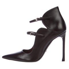 Christian Dior NEW Black Leather Cut Out Evening Pumps Ankle Boots Booties W/Box