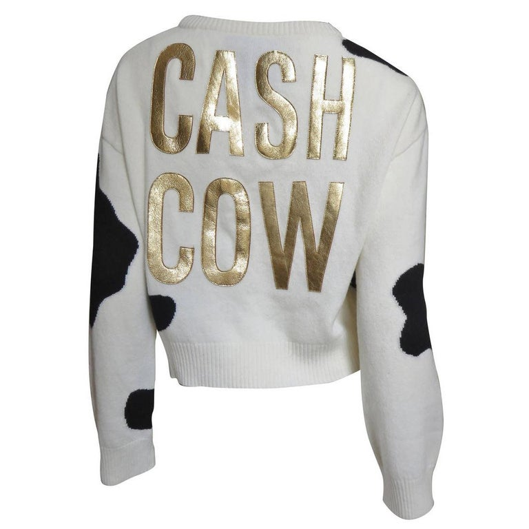 Moschino Couture ' Cash Cow ' Cashmere Sweater