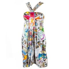 New VERSACE Julie Verhoeven Print Silk Dress