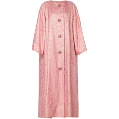 Nina Ricci haute couture pink & gold lurex coat, circa 1984