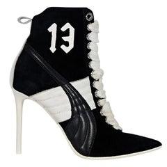 Black & White Fenty X Puma Heeled Ankle Boots