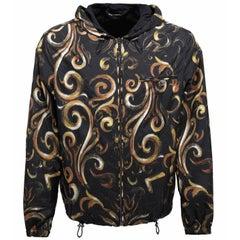 New Versace Men's Barocco Intante Hooded Jacket Windbreaker 50 - US 40