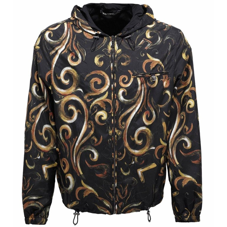 adeb9a0c New Versace Men's Barocco Intante Hooded Jacket Windbreaker 50 - US 40