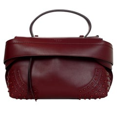 565651dde567 Tod s Burgundy Leather Small Wave Top Handle Shoulder Bag