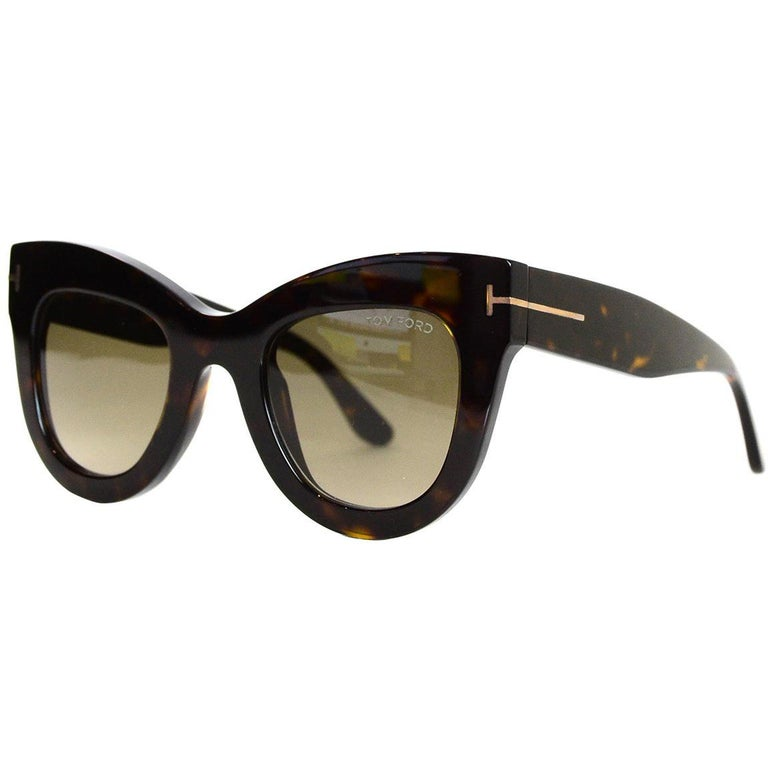 ad6b0f0127 Tom Ford Karina Brown Tortoise Sunglasses For Sale at 1stdibs