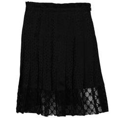 Philosophy Di Lorenzo Serafini NWT Black Pleated Star Print Skirt sz 6 rt. $760