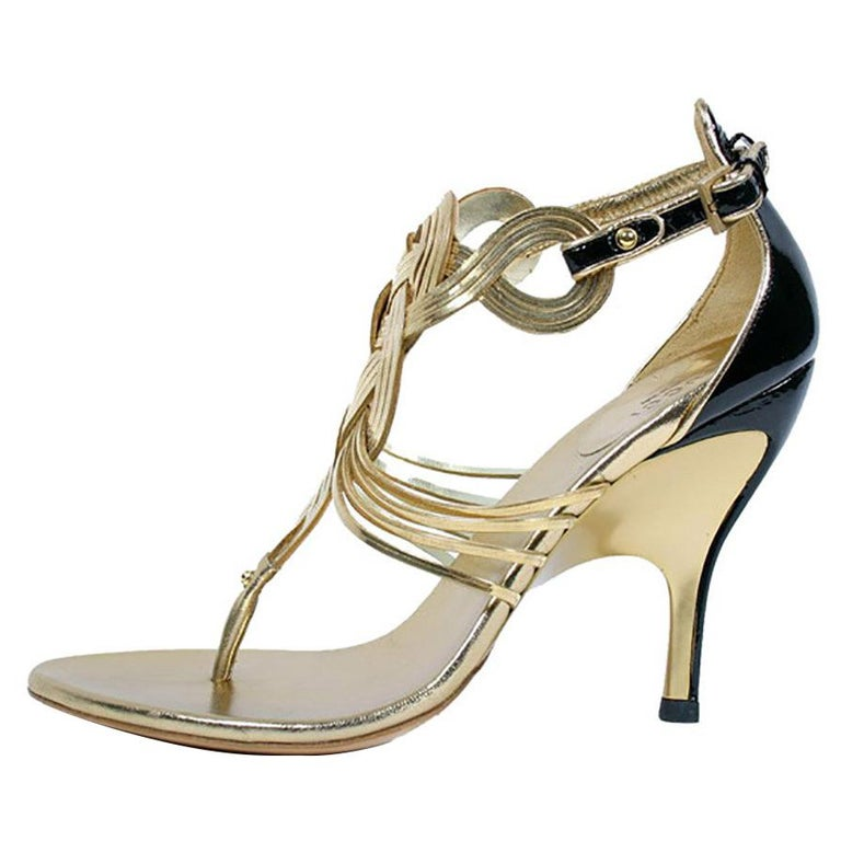 3c93952932e Gucci Vintage Gold Shoes from the Ad Campaign