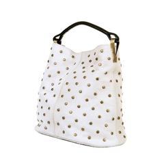 WOW ! Kenzo White-Fur Jumbo Tote, with Bronze Studwork - 'Ayoub' Collection