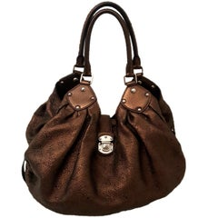 Louis Vuitton Bronze Mahina Monogrammed Hobo Bag
