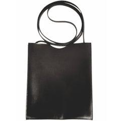 Hermes Carmine Black Crossbody Leather Bag