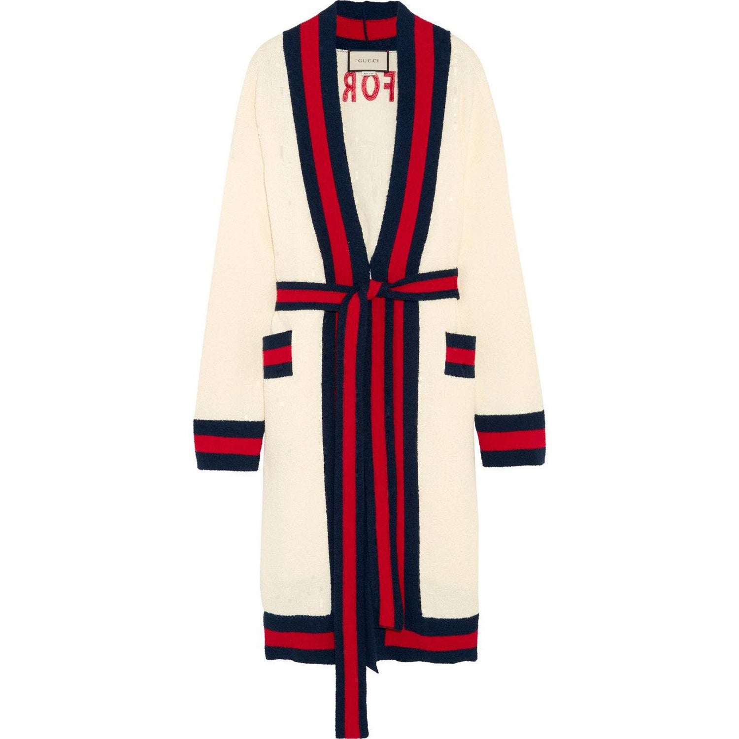 f93582e2 Gucci Embellished Striped Cotton-Blend Terry Cardigan at 1stdibs